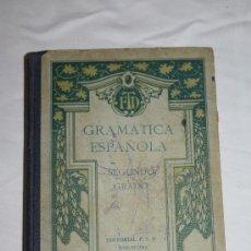 Libros antiguos: 0858- 'GRAMÁTICA ESPAÑOLA' POR F.T.D. SEGUNDO GRADO EDITORIAL F.T.D. BARCELONA 1926. Lote 32340292
