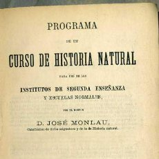 Libros antiguos: MONLAU : HISTORIA NATURAL (ARIBAU, MADRID, 1873). Lote 32911935