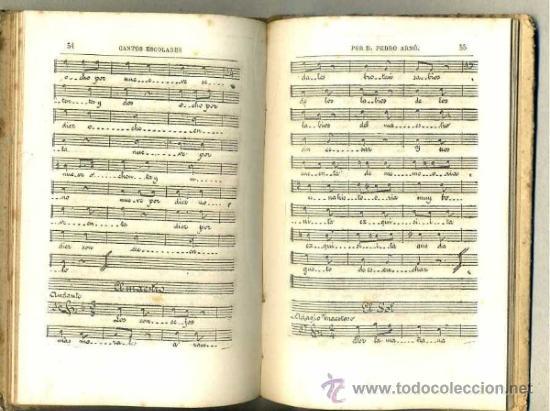 Libros antiguos: CANTOS ESCOLARES - LETRA Y MÚSICA POR PEDRO ARNÓ (BASTINOS, 1885) - Foto 2 - 32935608