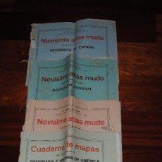 Libros antiguos: 1920.- LOTE DE 4 ATLAS CUADERNOS MUDOS DEL DR. RAFAEL BALLESTER. Lote 33395179
