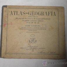 Libros antiguos: ATLAS- GEOGRAFIA CURSO ELEMENTAL 2ª EDICIÓN 1899 LIBRERIA CATOLICA. Lote 34200257
