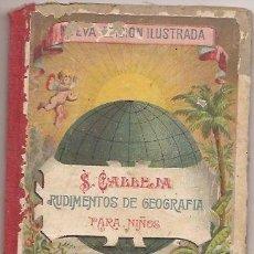 Alte Bücher - Rudimentos de geografía. Saturnino Calleja. - 34213940