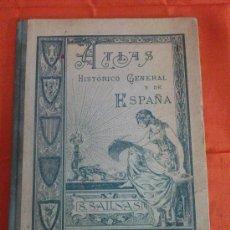Alte Bücher - ATLAS HISTORICO GENERAL Y DE ESPAÑA. 1926. 1ª EDICION - 34424808