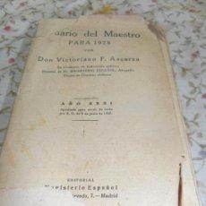 Libros antiguos: DIARIO DEL MAESTRO . Lote 34761705