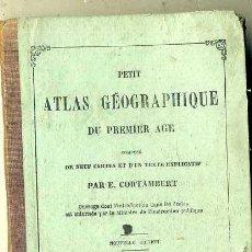 Libros antiguos: PETIT ATLAS GEOGRAPHIQUE DU PREMIER AGE (HACHETTE, 1872) CON NUEVE MAPAS EN COLOR. Lote 34817684