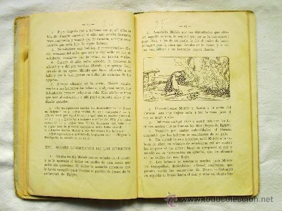 Libros antiguos: HISTORIA SAGRADA - PRIMER GRADO - EDITORIAL F.T.D. - AÑO 1926 - Foto 3 - 35057442