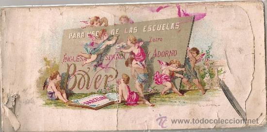 PARA USO DE LAS ESCUELAS LETRA INGLESA, ESPAÑOLA Y ADORNO / E. BOVER.BCN : TIP.LIT. VERDAGUER, C1860 (Libros Antiguos, Raros y Curiosos - Libros de Texto y Escuela)