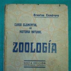 Libros antiguos: CURSO ELEMENTAL DE HISTORIA NATURAL ZOOLOGIA POR ORESTE CENCHENO 1932. Lote 35712517