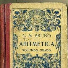 Libros antiguos: BRUÑO : ARITMÉTICA CURSO MEDIO (C., 1920). Lote 35913025
