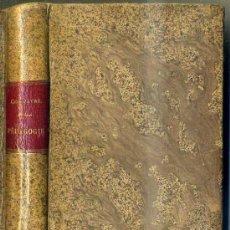 Libros antiguos: COMPAYRE : COURS DE PEDAGOGIE (C. 1900). Lote 35915810