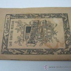 Libros antiguos: CUADERNO 9 JOSE PALUZIE - LAS CUATRO REGLAS - PROBLEMAS ARITMETICA - MATEMATICAS. Lote 36432471
