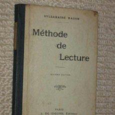 Libros antiguos: MÉTHODE DE LECTURE, SYLLABAIRE RAGON. 1929. ENSEÑANZA DE LENGUA FRANCESA, FRANCÉS. Lote 36967926