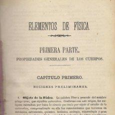 Libros antiguos: MANUAL DE FISICA Y QUIMICA (OBRA DE TEXTO PARA SEGUNDA ENSEÑANZA), POR M. RICO Y M. SANTISTEBAN. Lote 37193464