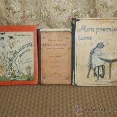 Libros antiguos: 3357- LOTE DE 6 LOBROS DE ESCUELA FRANCESA. 1923/1928. VER DESCRIPCION. . Lote 37581010