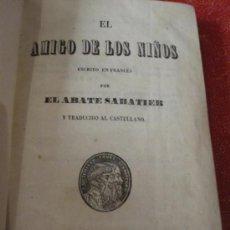 Libros antiguos: EL AMIGO DE LOS NIÑOS. GRANADA 1852. BONITO LIBRO ESCOLAR ENCUADERNADO EN PERGAMINO. Lote 38350253