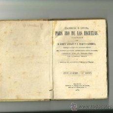 Libros antiguos: 1584.- CUADERNOS DE LECTURA PARA USO DE LAS ESCUELAS. Lote 38645083
