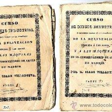 Libros antiguos: MADRID, CURSO DIBUJO INDUSTRIAL TOMOS I Y II BELLAS ARTES VILLANUEVA I.. Lote 38720058
