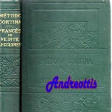 Libros antiguos: METODO CORTINA PRA APRENDER FRANCES, FRANCES EN 20 LECCIONES, 21ª EDIC. NUEVA YORK 1912. Lote 38876012