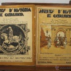 Libros antiguos: 3890- APUNTS D'HISTORIA DE CATALUNYA. LLUIS MALLAFRE. EDIT. ROMA. S/F. CUADERNO I Y II. . Lote 39379273