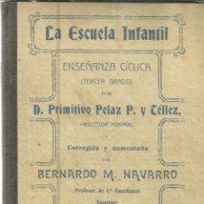 Libros antiguos: LA ESCUELA INFANTIL. PRIMITIVA PELAZ P. Y TÉLLEZ. 2ª ED. A. MARTÍN. VALLADOLID. 1917. Lote 39632053