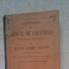 Libros antiguos: COMPENDIO DE MANUAL DE URBANIDAD. Lote 124319680