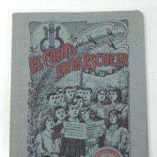 Libros antiguos: ANTIGUO LIBRO EL CANTO EN LA ESCUELA. LETRA DE R. RUIZ Y M. MARINEL-LO. MÚSICA DE ALFONSO XANCO. ED.. Lote 38286644