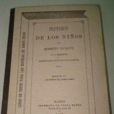 Libros antiguos: ANTIGUO LIBRO ESCUELA *PLUTARCO DE LOS NIÑOS* POR MODESTO INFANTE IMPRENTA PEDRO NUÑEZ DEL AÑO 1877. Lote 41302061