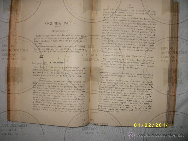 Libros antiguos: ESTUDIO ELEMENTAL DE GRAMATICA HISTÓRICA DE LA LENGUA CASTELLANA - Foto 4 - 41355505
