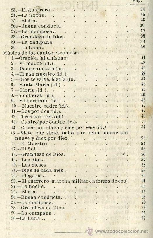 Libros antiguos: CANTOS ESCOLARES - LETRA Y MÚSICA POR PEDRO ARNÓ (BASTINOS, 1885) - Foto 3 - 32935608
