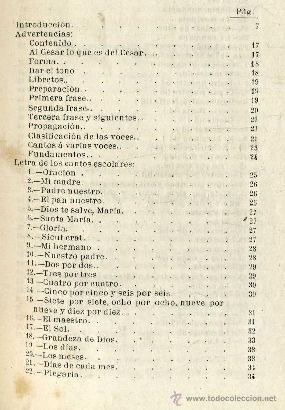 Libros antiguos: CANTOS ESCOLARES - LETRA Y MÚSICA POR PEDRO ARNÓ (BASTINOS, 1885) - Foto 4 - 32935608