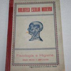 Libros antiguos: BIBLIOTECA ESCOLAR MODERNA - FISIOLOGIA E HIGIENE - GRADO MEDIO - GERARDO RODRIGUEZ - HERNANDO 1928. Lote 42012157