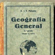Libros antiguos: PALUZIE GEOGRAFIA GENERAL 2º GRADO (1936). Lote 42865748