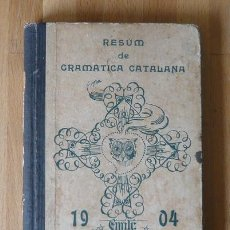 Alte Bücher - EMILI VALLES I VIDAL RESUM DE GRAMÀTICA CATALANA 1904 - 81630247