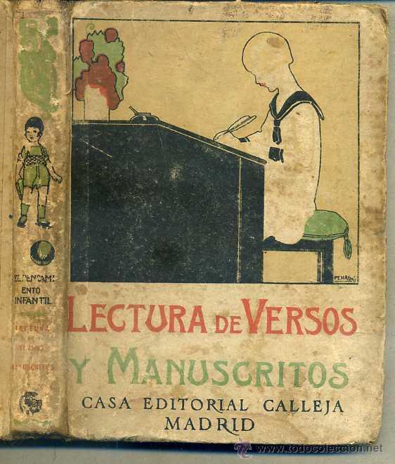 LECTURA DE VERSOS Y MANUSCRITOS CALLEJA (Libros Antiguos, Raros y Curiosos - Libros de Texto y Escuela)