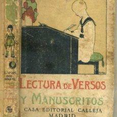 Libros antiguos: LECTURA DE VERSOS Y MANUSCRITOS CALLEJA. Lote 44174885