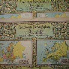 Libros antiguos: SECCIONES PEDAGOGICAS AVANTE.SALVATERRA.ANICETO VILLAR.CUADERNOS 3 Y 4 GEOGRAFIA DE EUROPA. Lote 44840392