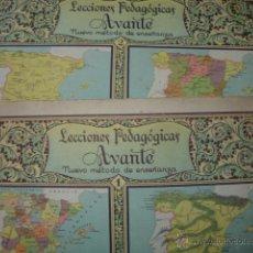 Libros antiguos: SECCIONES PEDAGOGICAS AVANTE.SALVATERRA.ANICETO VILLAR.CUADERNOS 1 Y 2 GEOGRAFIA DE ESPAÑA.FOLIO. Lote 44840548