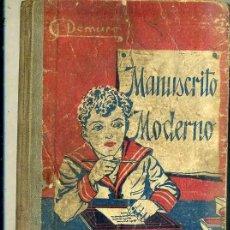 Libros antiguos: DEMURO : MANUSCRITO MODERNO (ESTUDIO, C. 1920). Lote 44842649