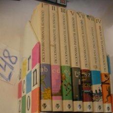 Libros antiguos: ANTIGUA ENCICLOPEDIA DICCIONARIO INFANTIL ILUSTRADO CON MI PEQUEÑA ENCICLOPEDIA - EN BUEN ESTADO. Lote 44913446