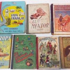 Libros antiguos: LOTE 7 LIBROS MANUSCRITOS DE LECTURA E INSTRUCCION ESCOLAR. ORIGINALES DE EPOCA. VER DESCRIPCION.. Lote 44929591