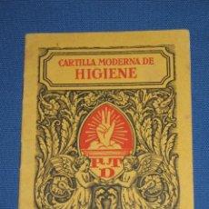 Libros antiguos - CARTILLA MODERNA DE HIGIENE 1929 - EDITORIAL F.T.D - PRIMERA EDICION - 44946206