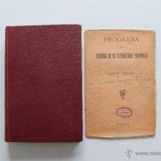 Libros antiguos: HISTORIA DE LA LITERATURA ESPAÑOLA. ÁNGEL LACALLE. 1930. QUINTA EDICIÓN CORREGIDA. CON GRABADOS. . Lote 46188557