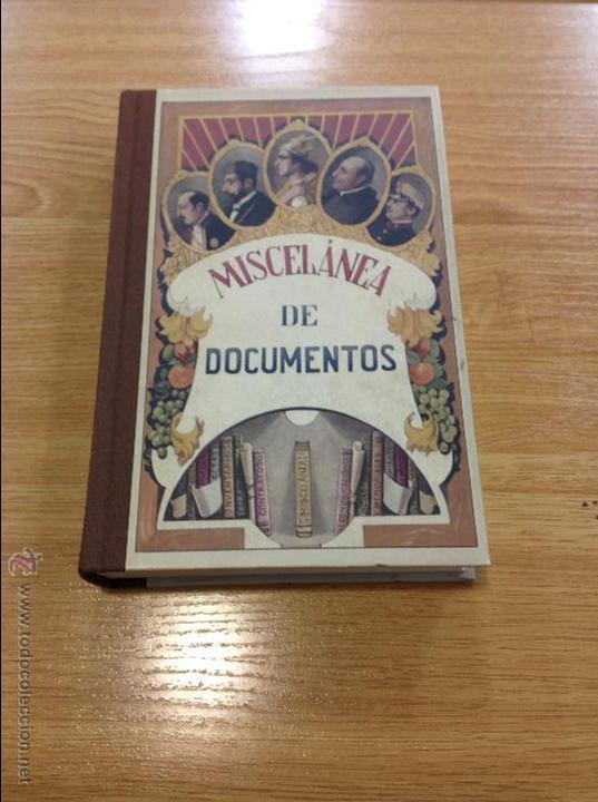 MISCELÁNEA DE DOCUMENTOS (Libros Antiguos, Raros y Curiosos - Libros de Texto y Escuela)