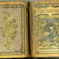 Libros antiguos: MASVIDAL Y PUIG : GUÍA EPISTOLAR MANUSCRITO PARA NIÑOS (ROSALS, 1919). Lote 46396256