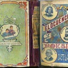 Libros antiguos: VIDAL VALENCIANO : ELOCUENCIA Y POESÍA (SUC. BLAS CAMÍ, 1916) . Lote 46507164