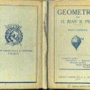 Libros antiguos: PUIG : GEOMETRÍA GRADO ELEMENTAL (DALMAU CARLES. 1930) . Lote 46591216