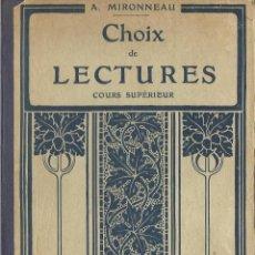 Libros antiguos: LIBRO DE LECTURA DE FRANCES DE 1933 CON PRECIOSOS GRABADOS VER. Lote 46830082