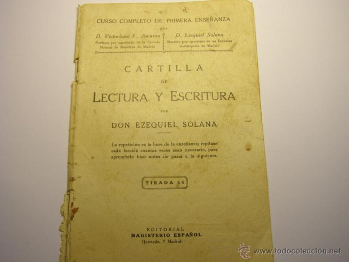 CARTILLA DE LECTURA Y ESCRITURA, AÑO 1928. (Libros Antiguos, Raros y Curiosos - Libros de Texto y Escuela)