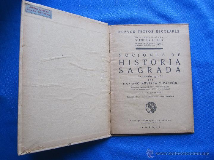 Libros antiguos: NOCIONES DE HISTORIA SAGRADA. SEGUNDO GRADO. EDITORIAL SATURNINO CALLEJA, MADRID, 1922. - Foto 2 - 47481906