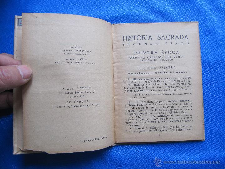 Libros antiguos: NOCIONES DE HISTORIA SAGRADA. SEGUNDO GRADO. EDITORIAL SATURNINO CALLEJA, MADRID, 1922. - Foto 3 - 47481906